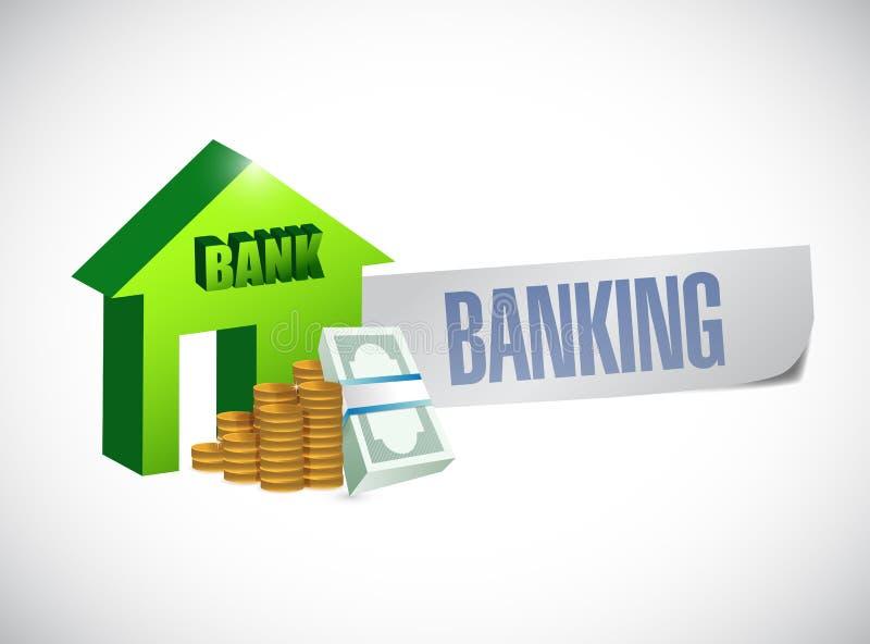 Bankwesenzeichen-Illustrationsdesign stock abbildung