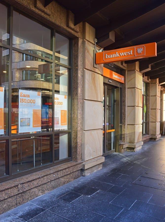 Bankwest австралийский банк полного обслуживания основанный в Перте, западной Австралии стоковая фотография rf