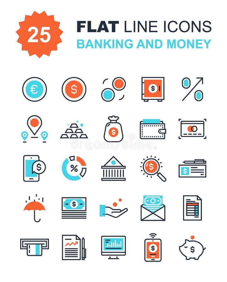 Bankwezen en Geld vector illustratie