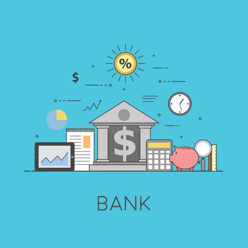 Bankwezen en zaken Financiële markt Beveilig transacties en betalingenbescherming, de waarborgveiligheid van financieel vector illustratie