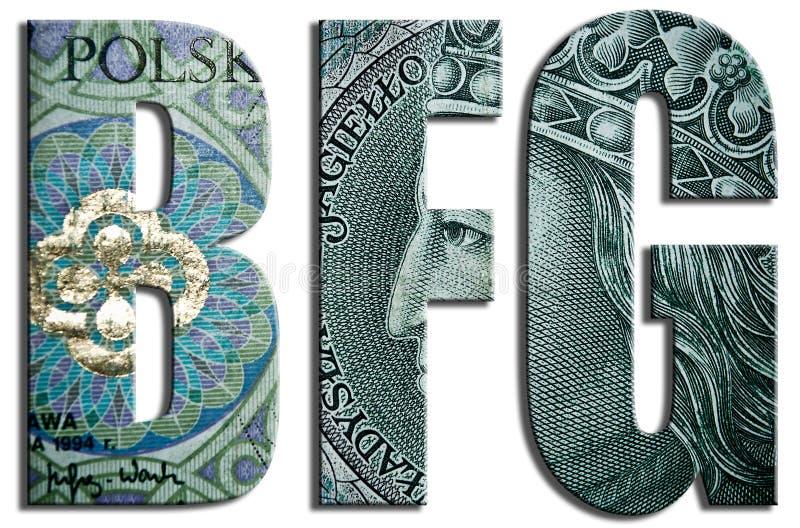 Bankwezengarantiefonds, poetsmiddelorganisatie in financiële sector royalty-vrije illustratie