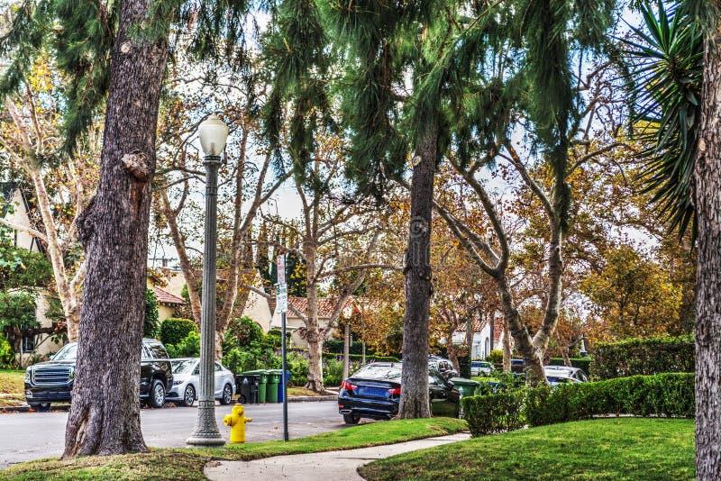 Banlieue de luxe en Californie du sud photos stock