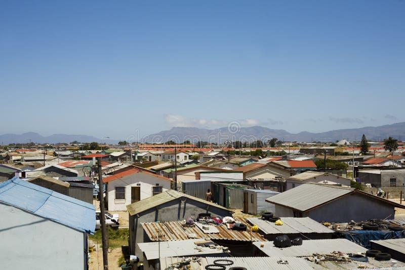 Banlieues noires de Capetown image libre de droits