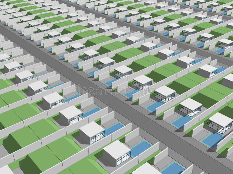 Banlieues totales de ville illustration libre de droits