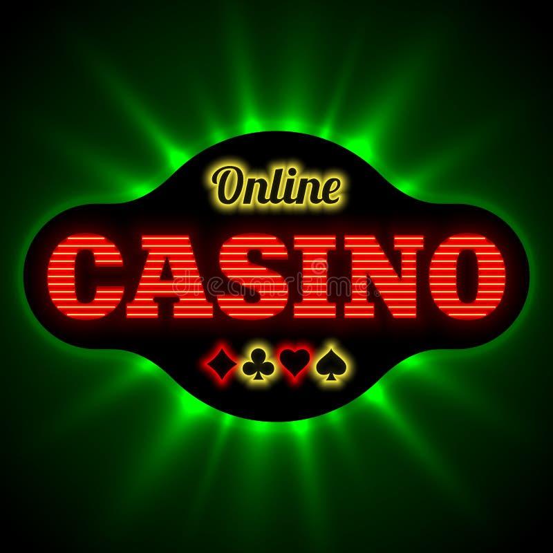 Banne em linha do casino ilustração stock