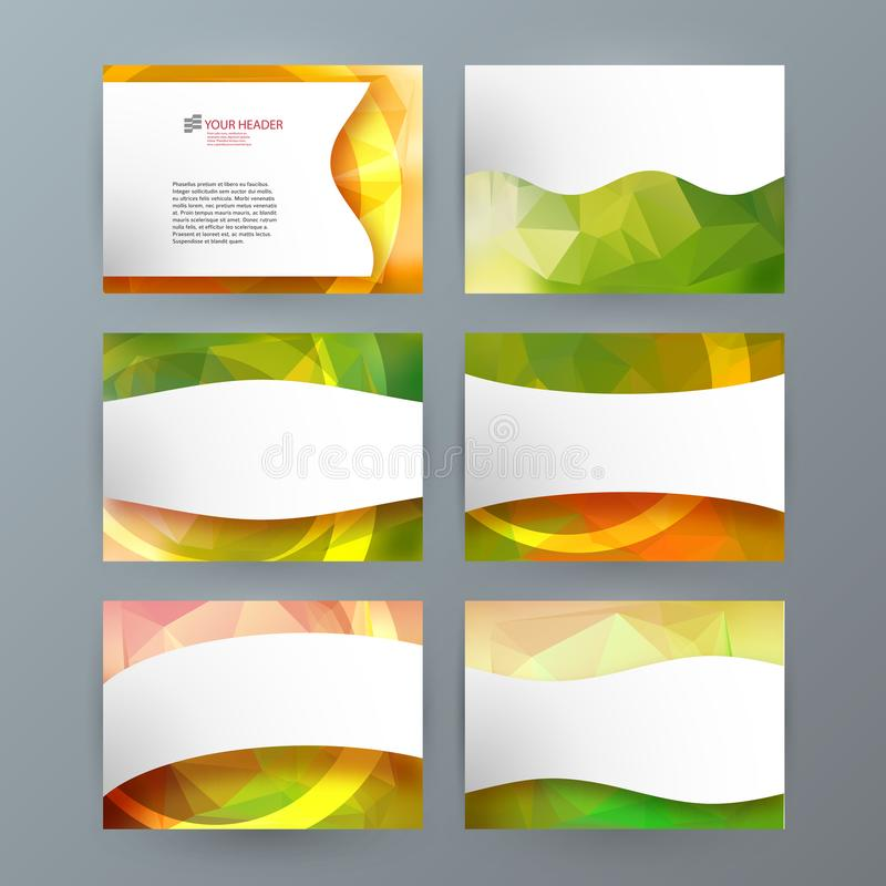 Banne horizontal de calibre de precentation de PowerPoint d'élément de conception illustration de vecteur