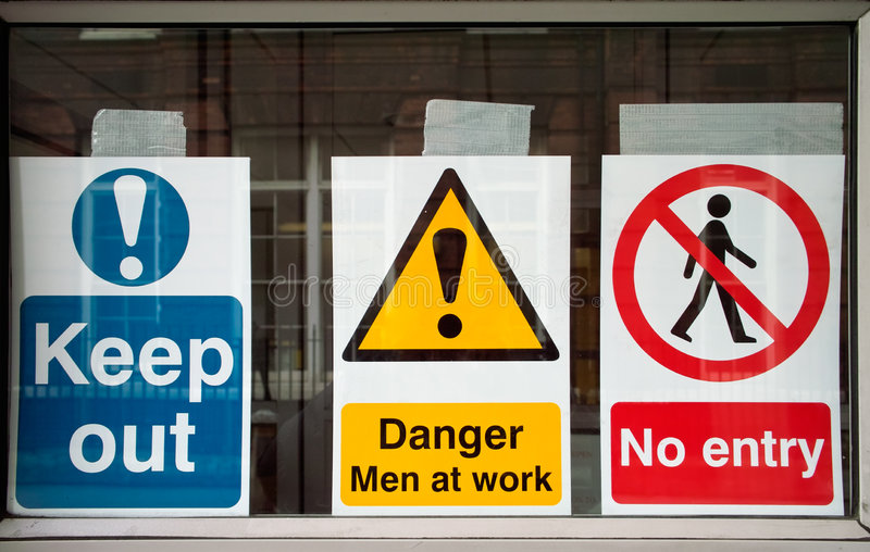 Download Banned stock photo. Image of trio, danger, entry, alert - 5134958