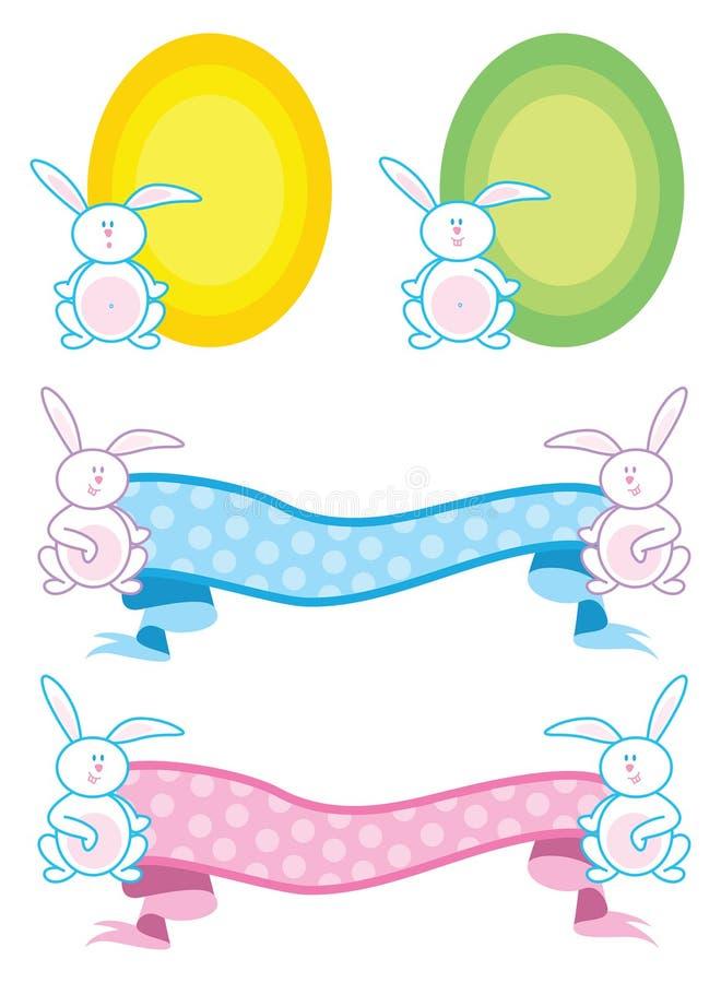 banner ślepej króliki ilustracja wektor