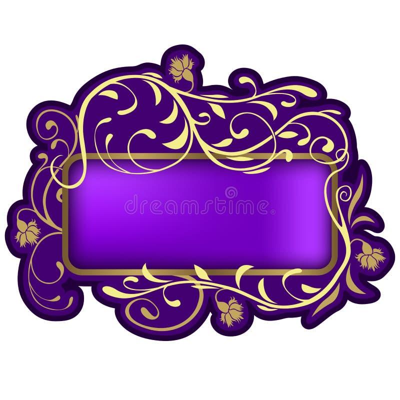 banner 06 kwiecisty royalty ilustracja