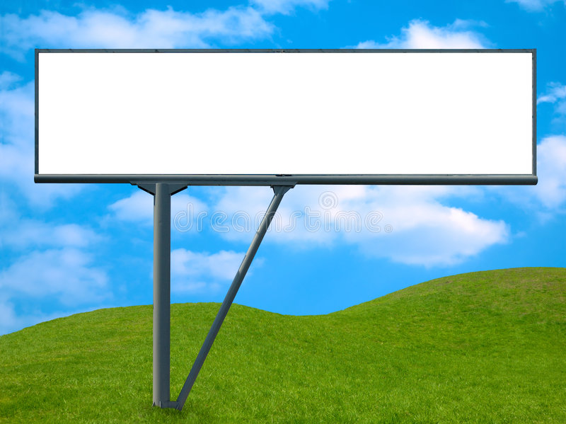 Banner 2. Blank billboard, advertisement banner background