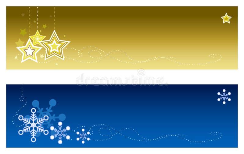 banner 2 bożego narodzenia ilustracji