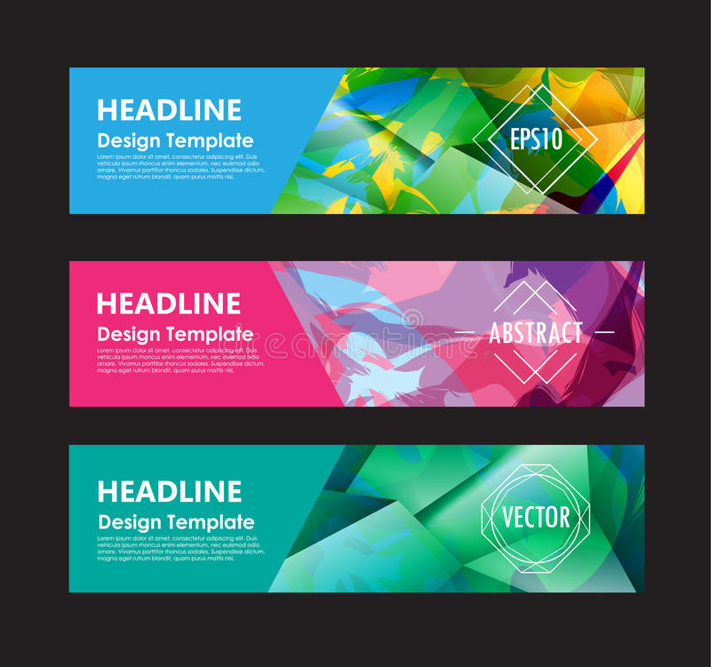Banner abstract colorful polygon background design vector templa vector illustration
