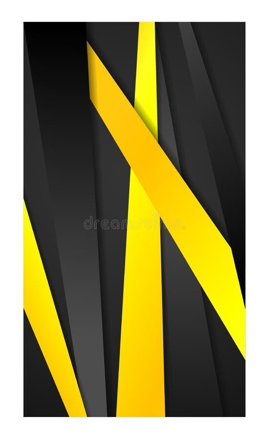 Banner abstracte achtergrond voor de samenvatting van het behangsmartphone van het smartphonemobiele web tablet_yellow stock illustratie