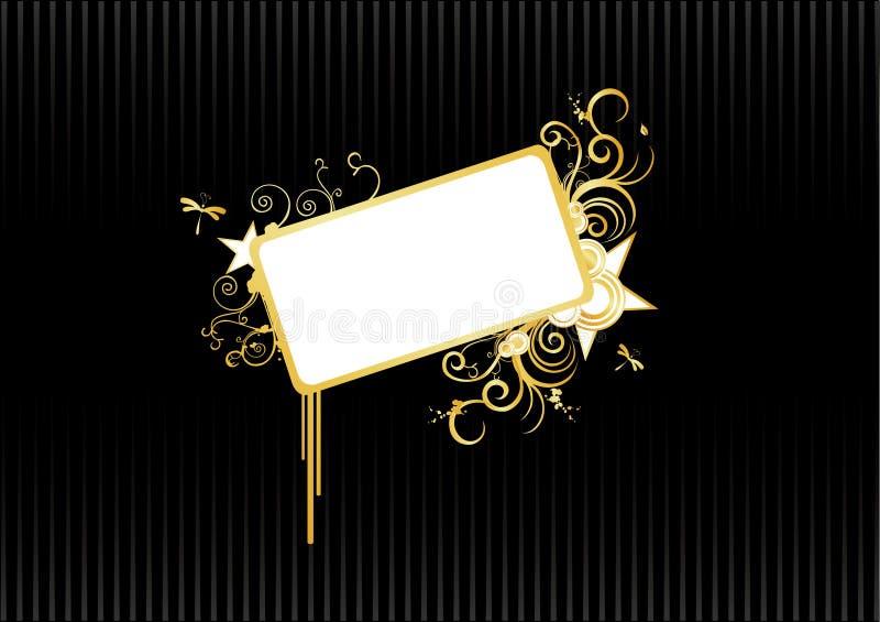 banner abstrakcyjne złoto ilustracji