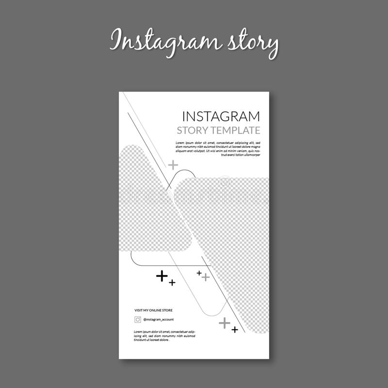 Banner ads instagram story template. This is professional Banner ads instagram story template. Template is .eps format stock illustration