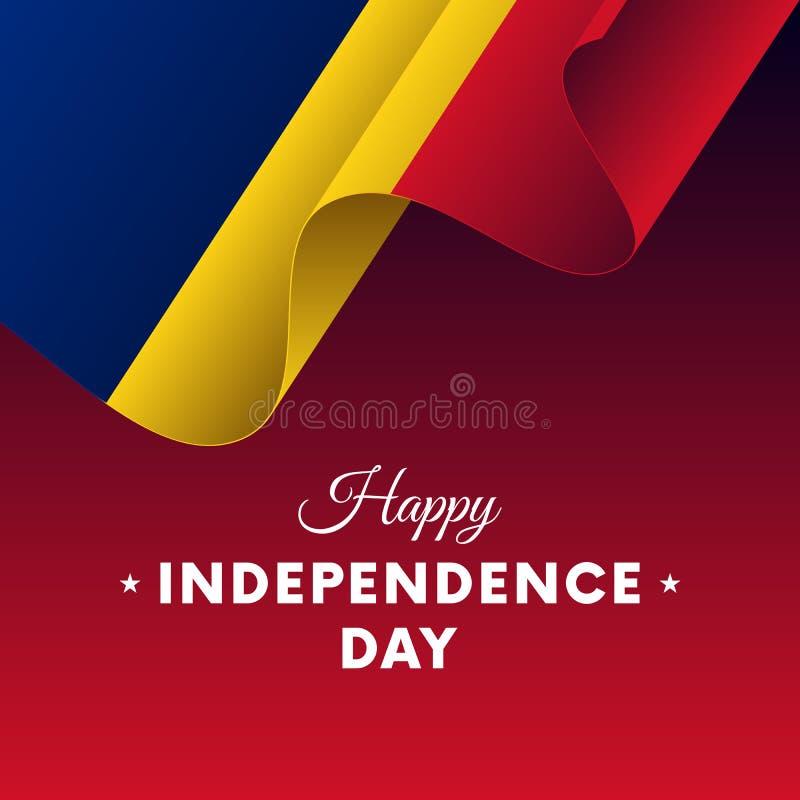 Banner of affiche van de viering van de de onafhankelijkheidsdag van Roemenië Golvende Vlag Vector illustratie vector illustratie