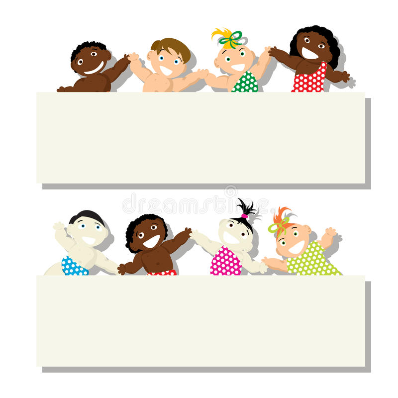 Download Banner baby stock vector. Image of earth, child, hands - 29461314