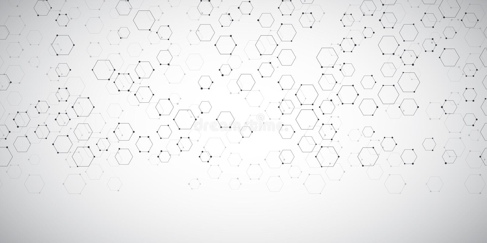 Banner background with abstract connections design royalty free illustration