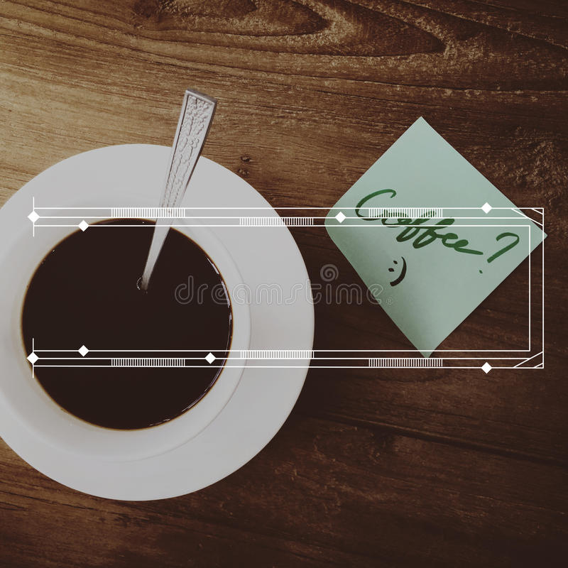Banner Badge Label Blank Copy Space Concept. Banner Badge Label Blank Coffee Concept royalty free stock photography