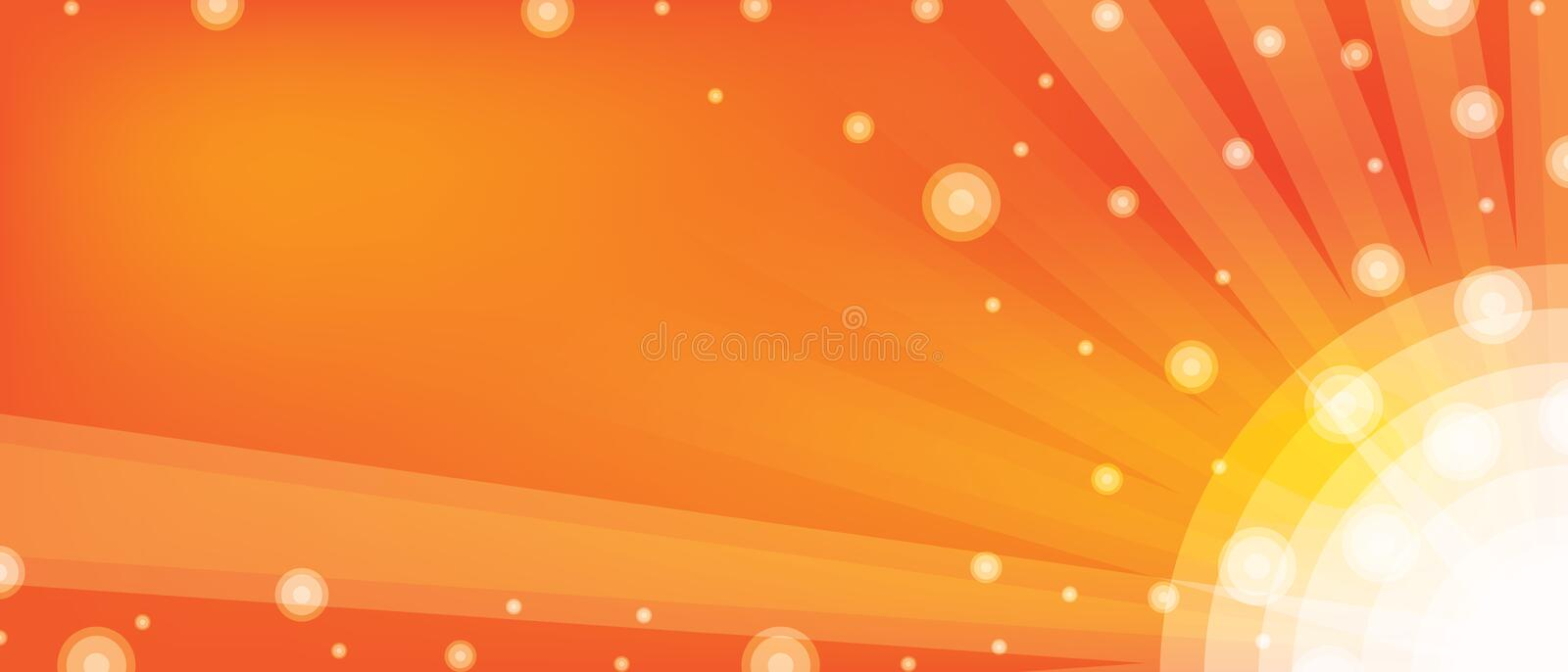 Banner ball orange stock illustration