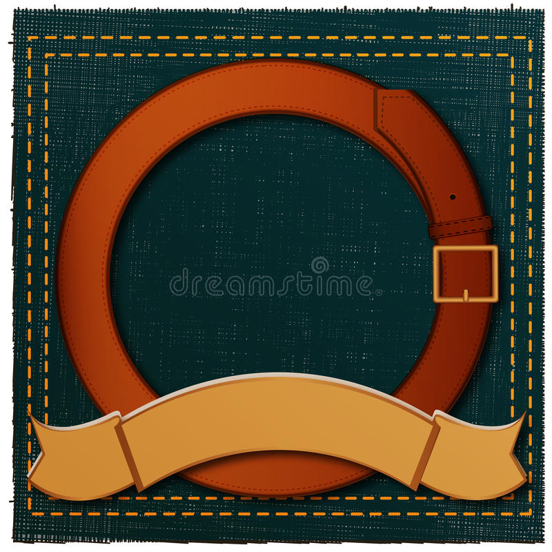 Download Banner and belt stock illustration. Illustration of round - 17906373