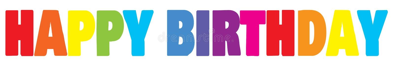 banner birthday happy Χρώματος ουράνιων τόξων στοκ εικόνες