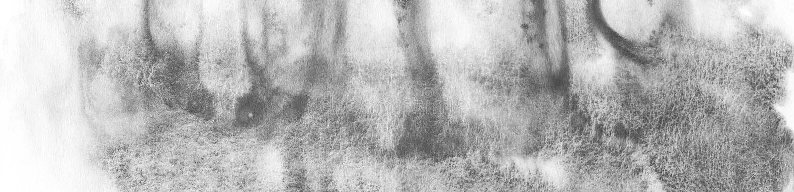 Banner of Black abstract watercolor macro texture background. Abstract aquarelle texture grayscale backdrop. stock photos