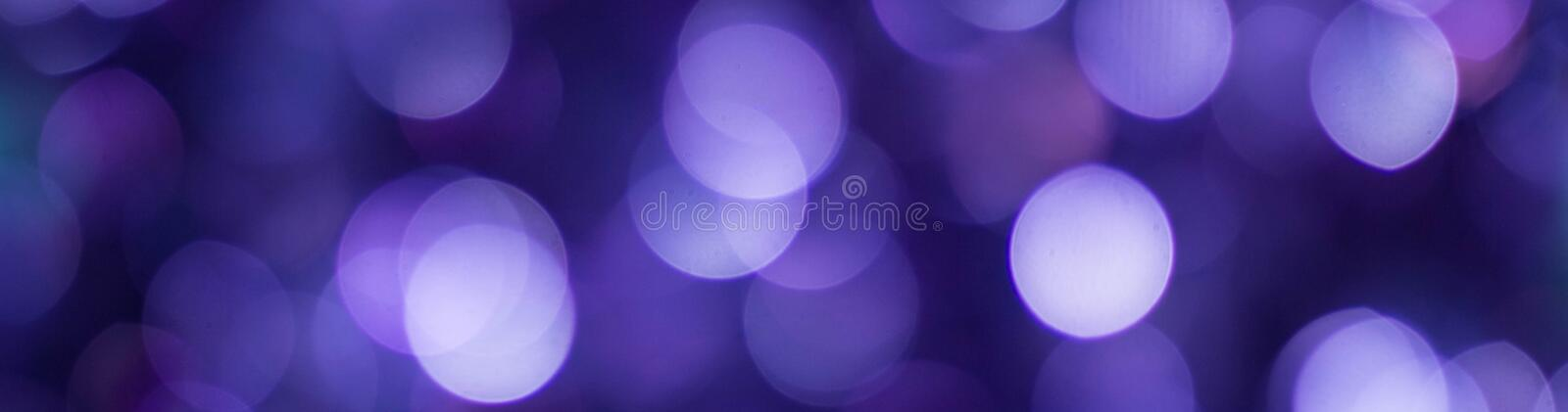 banner of Blue shiny glitter holiday beautiful abstract blur bokeh background stock photography