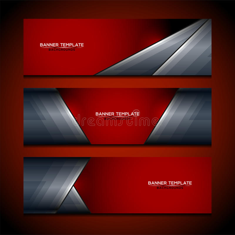 Banner Business Abstract Backgrounds stock illustration