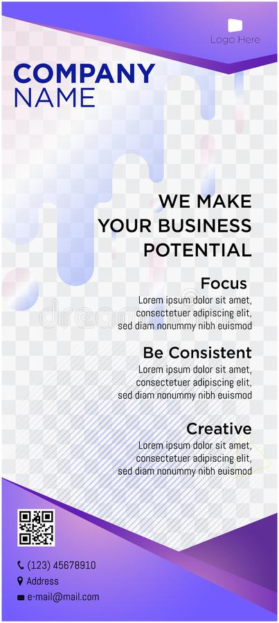 Banner business company website headers tags web commercial portrait. Violet royalty free stock image