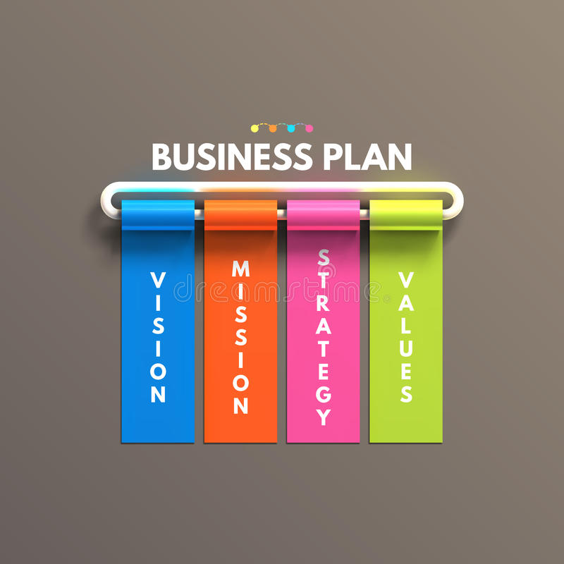 Banner business infographic template. Business royalty free illustration