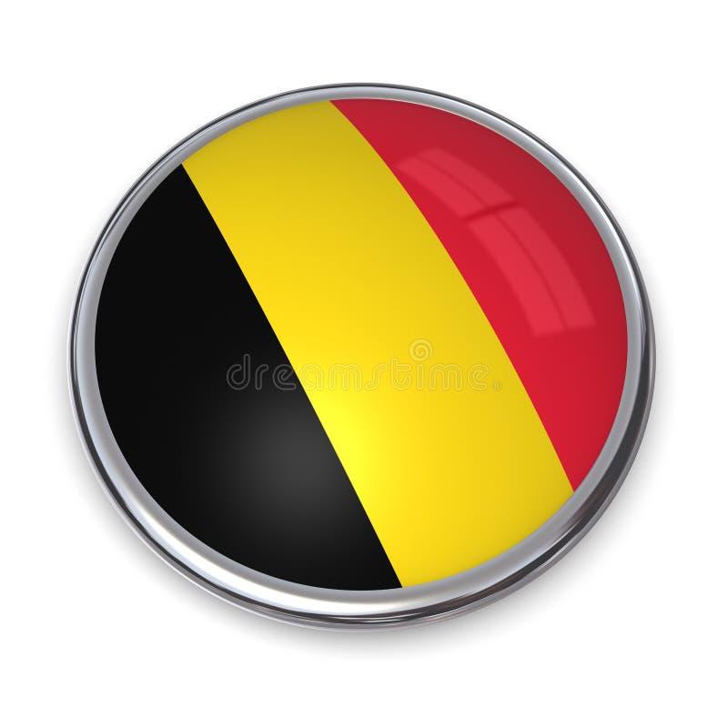Banner Button Belgium vector illustration