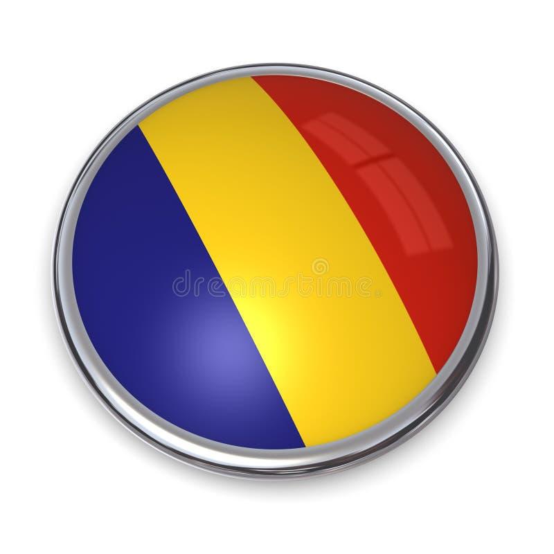 banner button romania απεικόνιση αποθεμάτων