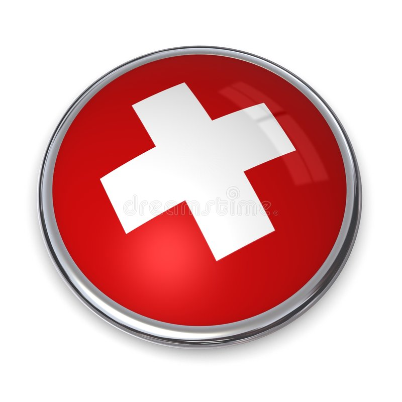Banner Button Swiss stock illustration