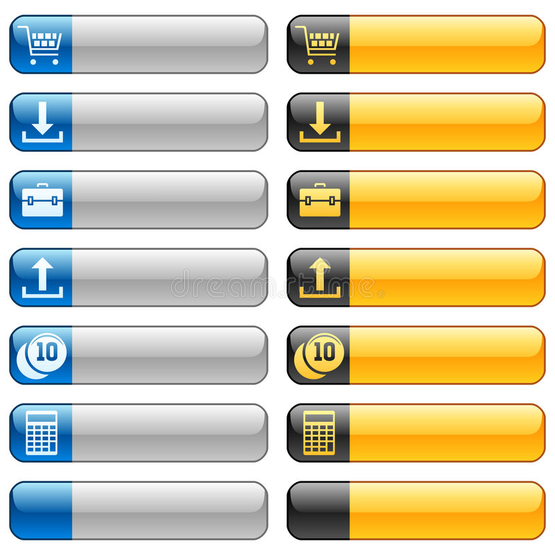 Banner buttons with web icons 2 royalty free illustration