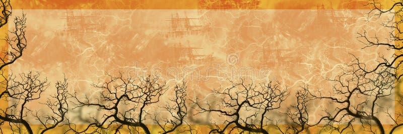 banner charakteru sylwetki drzewo ilustracja wektor