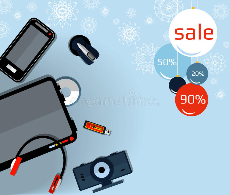 Banner Christmas Sale. stock images