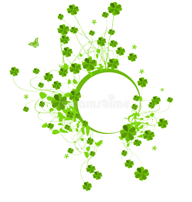 Banner with clover leaves vector illustration