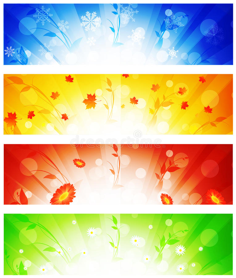 Banner collection royalty free illustration