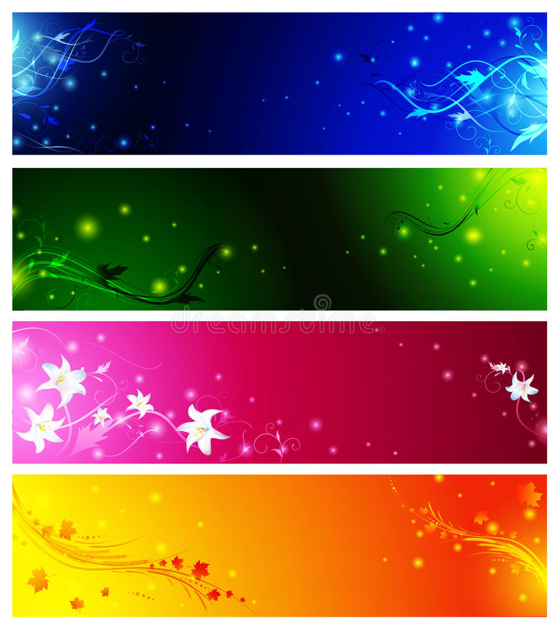 Banner collection vector illustration