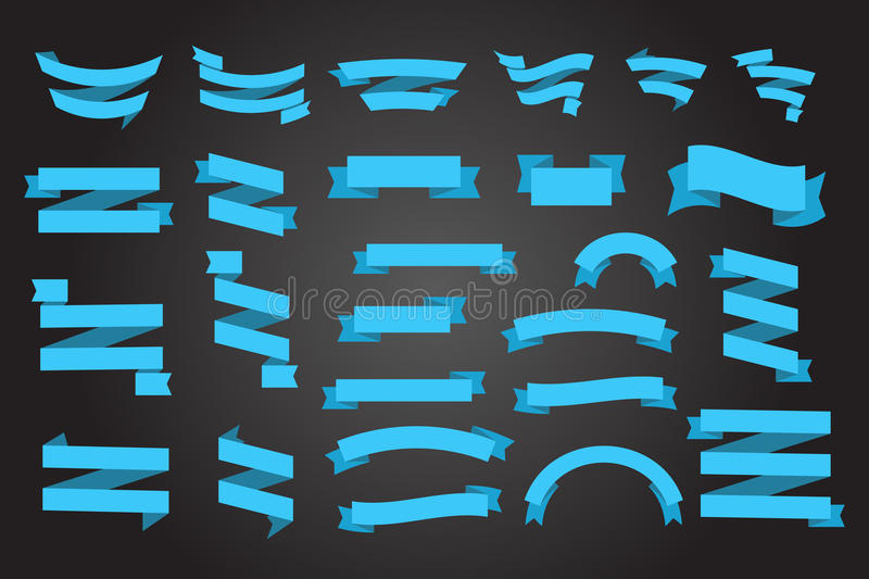 Download Banner collection stock vector. Image of objects, dark - 47936533