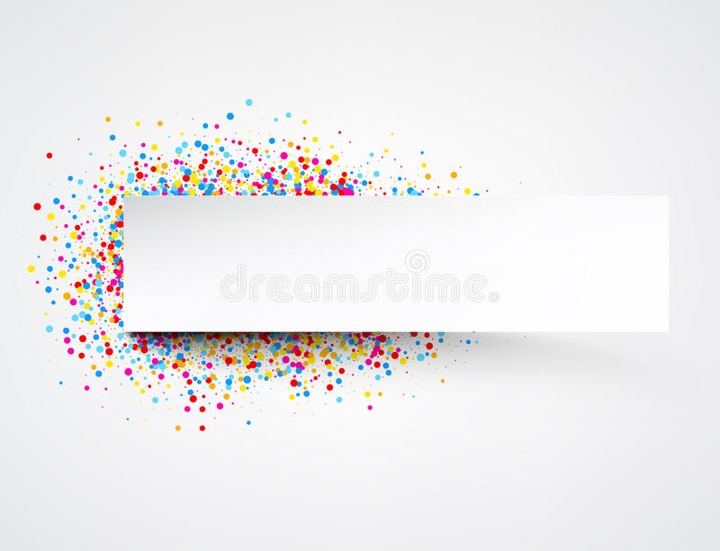 Banner with color drops. Light banner with color drops. Vector illustration royalty free illustration