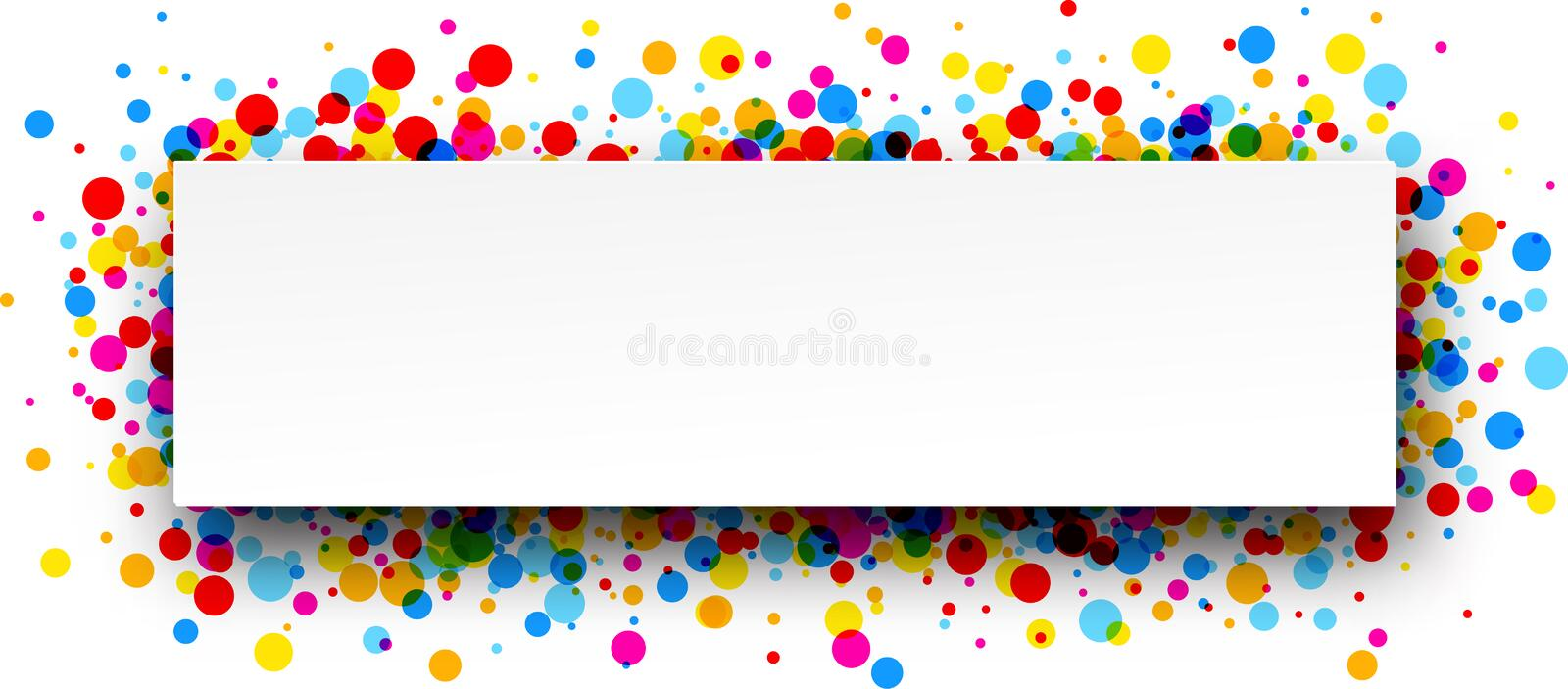 Banner with color drops. White paper banner with color drops. Vector illustration vector illustration