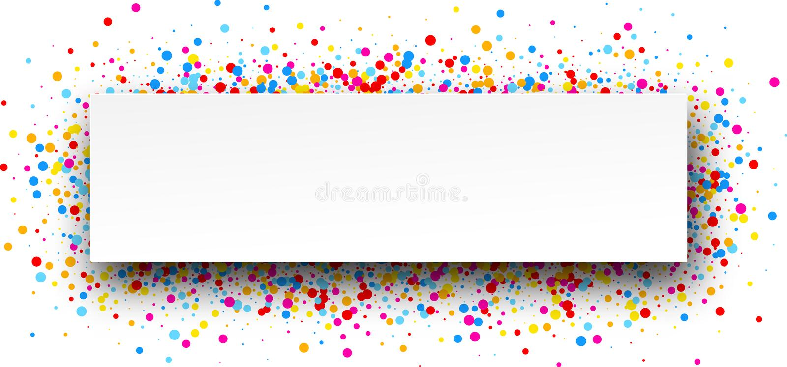 Banner with color drops. White banner with color drops. Vector illustration vector illustration