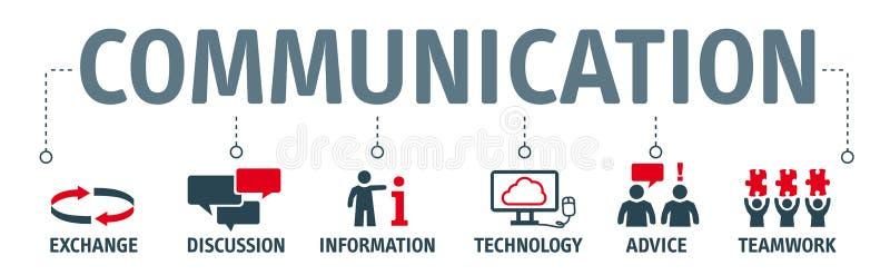 Banner communicatie illustratie royalty-vrije illustratie