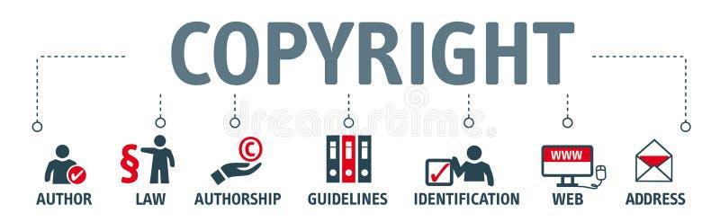 Banner copyright concept vector illustration
