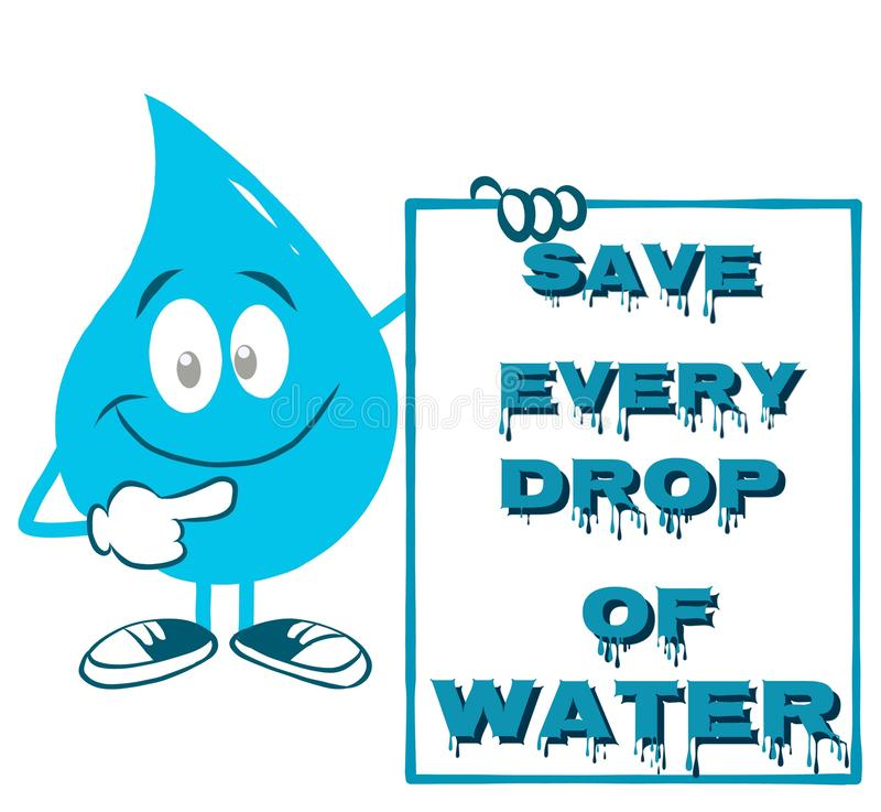 Perfect quote for World Water Day vector illustration