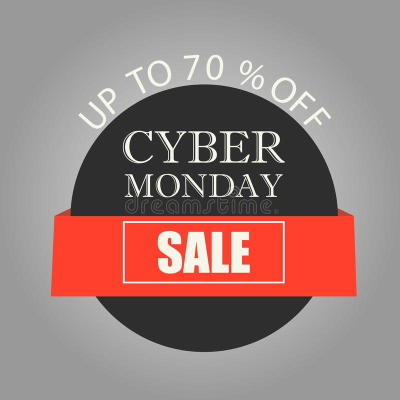 Banner cyber monday sales. The concept of marketing. Vector illustration. vector illustration