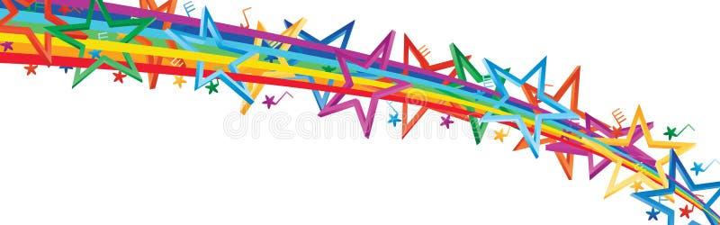 Banner de la nota musical de Star 3D stock de ilustración