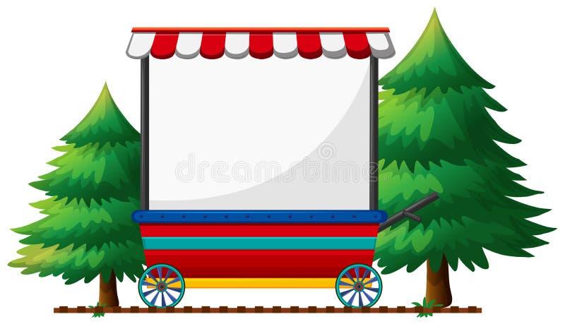 Banner design on mobile shop royalty free illustration